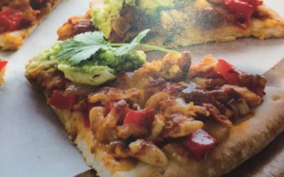 Mexican Pizza with Avocado Topping