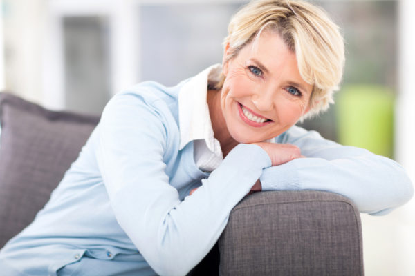 woman happy relaxed